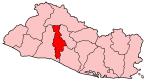 Map of El Salvador showing San Salvador department.