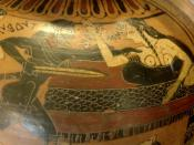 Tydeus and Ismene. Side A from a Corinthian black-figure amphora, ca. 560 BC.