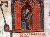 English: Adam de la Halle. Miniature in musical codex. Español: Adam de la Halle. Miniatura en un códice musical.