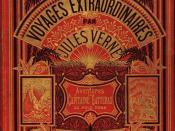Français : Couverture Voyages Extraordinaires par Jules Verne. Aventures du Capitaine Hatteras au pôle nord. Editions Hetzel.