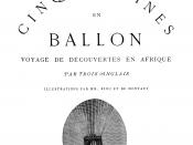 Jules Verne : Cinq Semaines en ballon, Hetzel & Cie, Paris, 1863.