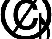 English: The crossed out copyright symbol with a musical note on the right hand side is the free music symbol, signifying a lack of copyright restrictions on music. It may be used in the abstract, or applied to a sound recording or musical composition.