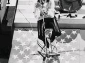 Jim Morrison, lead singer of The Doors.