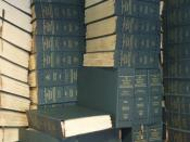 English: 145-volume stack of the 1959 World Book Encyclopedia printed in Braille.