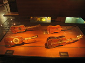 Stringed instruments in the Musical Instrument Museum, Brussels, Belgium.