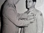 English: Photo of Frank Capra receiving the Distinguished Service Medal from U.S. Army Chief of Staff General George C. Marshall