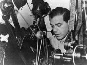 Frank Capra cuts Army film as a Signal Corps Reserve major during World War II. (This photo taken circa 1943.)