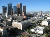 English: Bunker Hill in downtown Los Angeles as seen from Los Angeles City Hall. Photographed and uploaded by user:Geographer Category:Images of Los Angeles