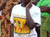 Rape survivor near Walungu, South Kivu in DRC.