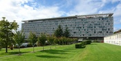 World Health Organization building from the South-East, Geneva