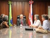 Governador Jaques Wagner recebe o Secretário de Cultura Márcio Meirelles e o Conselho de Cultura do Estado