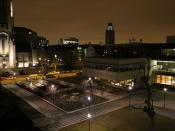 Booth courtyard at night from Ida.