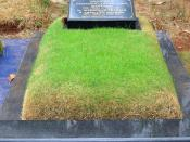 English: The Grave of Indonesian writer Pramoedya Ananta Toer in Karet Bivak Cemetery, Jakarta