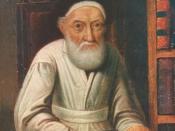 English: Rabbi Menachem Mendel Schneersohn, the Tzemach Tzedek, the Third Rabbi of Lubavitch. The seventh Lubavitcher Rebbe was named similarly: Menachem Mendel Schneerson (without an