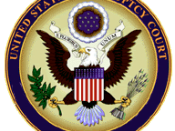 Seal of the United States bankruptcy court. Church of Scientology attorney Steven Hayes bought rights to the Cult Awareness Network assets during its bankruptcy proceedings.
