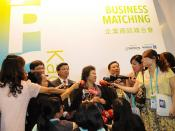 2013 Asia Pacific Cities Summit - media scrum with Mayor Chen Chu of Kaohsiung