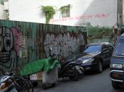 English: Graffiti near ShiDa Night Market, Taipei, Taiwan.