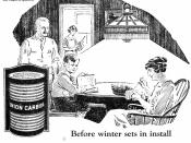 Gas lighting was was much brighter than kerosens lamps or candles, Most farms had no electricity in 1922. This Union Carbide ad ran in the October 7th Country Gentleman.