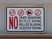 sign on parking ramp: