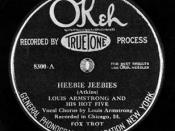 """Heebie Jeebies"" by Louis Armstrong and his Hot Five"