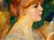 Profile portrait of Suzanne Valadon, by Renoir.