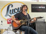 Dustin Welch 2012-03-14 at Lucy's Fried Chicken (SXSW)
