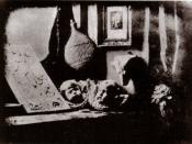 Français : L'Atelier de l'artiste : un daguerréotype de 1837, réalisé par l'inventeur de ce procédé photographique, Louis Jacques Mandé Daguerre (1787-1851).