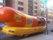 English: The Oscar Meyer Weinermobile was parked in front of my apartment building one day. What else was I supposed to do?