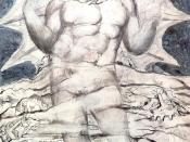 Lucifer, by William Blake, for Dante's Inferno, canto 34