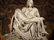 Michelangelo's Pietà in St. Peter's Basilica in the Vatican.