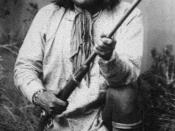 English: Goyathlay, later known as Geronimo (Goyaałé'