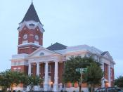 Bulloch County Courthouse in Statesboro, Georgia, in the United States.