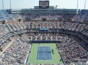Interior Of Arthur Ashe Stadium During 2007 US Open