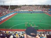 An example of a hockey field – Sydney Olympic Park Hockey Centre 2000