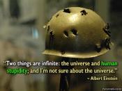 Universe and Human Stupidity