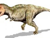Tyrannosaurus rex, a theropod from the Late Cretaceous of North America, pencil drawing