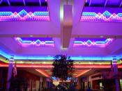 Neon ceiling of now-demolished South Hills Mall in Poughkeepsie, NY.