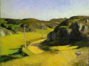 Edward Hopper, Road in Maine, 1914, Oil on canvas, the Whitney Museum of American Art, New York City