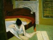 Edward Hopper, Summer Interior, 1909, Oil on canvas, the Whitney Museum of American Art, New York City