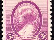 English: US Postage stamp, Susan B. Anthony, 1936 issue, 3c