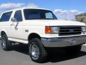 English: 1990 Ford Bronco (front view)