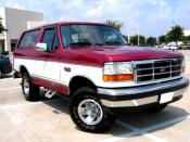 English: Two tone late model Ford Bronco