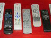 English: Various remote controls fot TV-set, DVD and VHS.