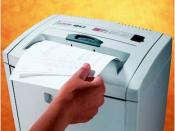 English: Paper Shredders = Security, Privacy & Confidentiality
