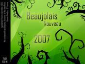 Etiquette Fictive Beaujolais Nouveau 2007