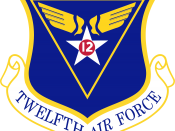 At the time of his retirement, Bond was commander of the Twelfth Air Force (insignia pictured).