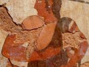 English: Fresco with an Athletic Trainer (Etruscan, 510 BC.) Español: Fresco etrusco que representa a un entrenador de atletas. 510 a. C.
