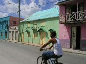 Colourful Bridgetown street