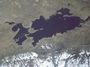 View from space, May 1985 (North is at right)