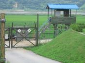 A South Korean checkpoint in the Korean Demilitarized Zone. Tensions between North Korea and South Korea have not improved since the signing of the armistice in 1953.